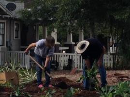 Batina and Tim planting new crops